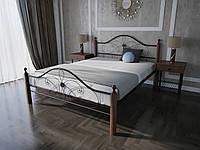 Кровать MELBI Фелиция Вуд Двуспальная 140190 см Бордовый лак КМ-003-02-1бор, КОД: 1457266