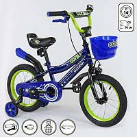 Велосипед CORSO 14 дюймов Синий IG-77197, КОД: 1491113