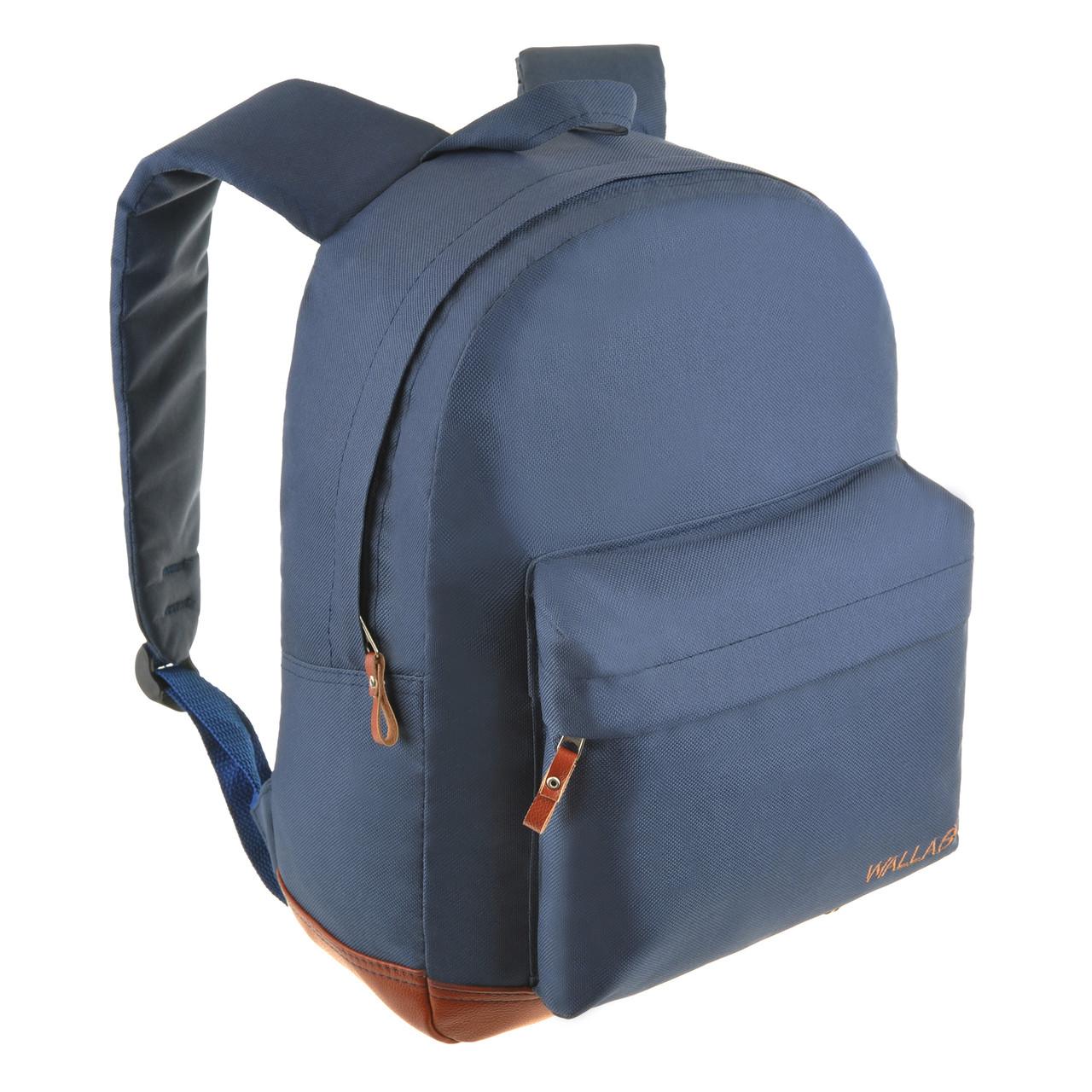 Рюкзак городской Wallaby 29 х 35 х 15 синий полиестр на ПВХ основев 1351син кор