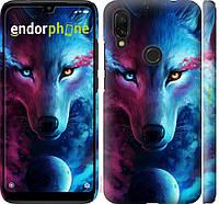 Пластиковый чехол Endorphone на Xiaomi Redmi 7 Арт-волк 3999m-1669-26985, КОД: 1537440