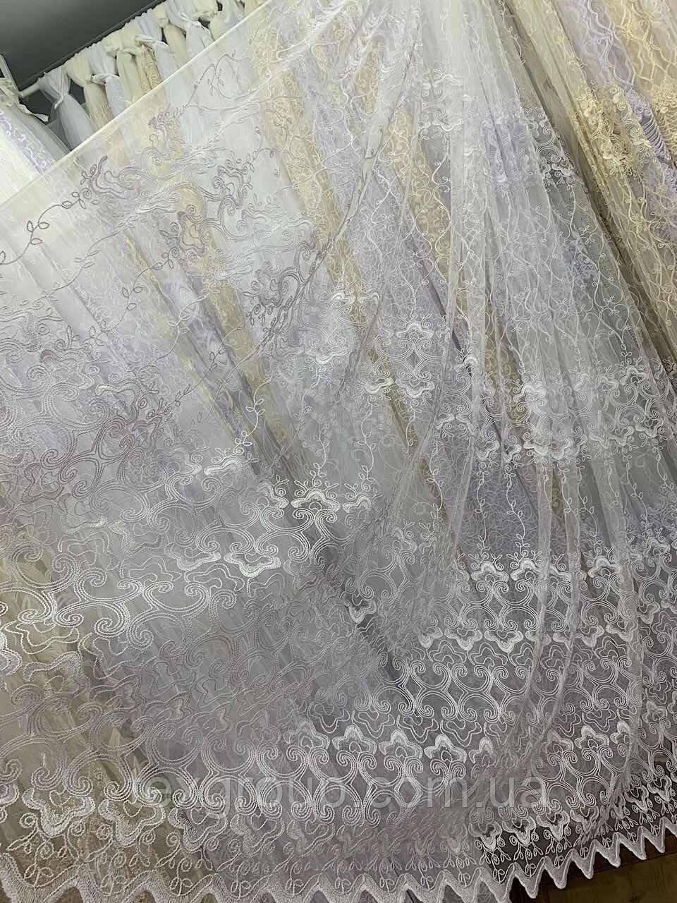 Фатиновый тюль Корт белый Турция №320