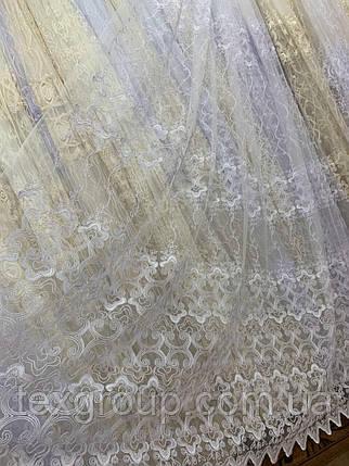Фатиновый тюль Корт белый Турция №320, фото 2