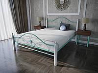Кровать MELBI Фелиция Вуд Двуспальная 140190 см Бирюзовый КМ-003-02-1бир, КОД: 1457275