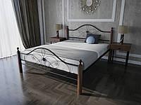 Кровать MELBI Фелиция Вуд Двуспальная 180190 см Черный КМ-003-02-5беж, КОД: 1457324