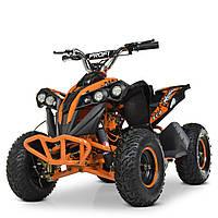 Квадроцикл с металлическим корпусом Profi HB-EATV1000Q-7ST V2 (MP3) оранжевый. Разные цвета.