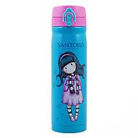 Термос YES Santoro Little Song 500 мл Голубой розовый 706970, КОД: 1563750
