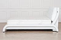 Кожаная двуспальная кровать Sonata Mobel B211 Белая, КОД: 1564107
