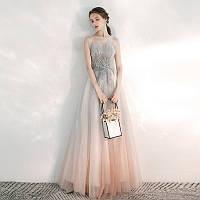 Платье выпускное евросетка открытые плечи корсет