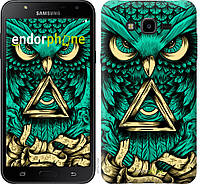 Пластиковый чехол Endorphone на Samsung Galaxy J7 Neo J701F Сова Арт-тату 3971m-1402-26985, КОД: 1537863