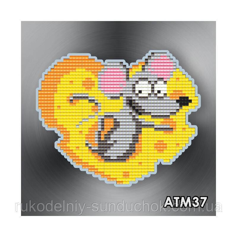 Набір алмазної вишивки (магніт) ТМ ArtSolo Сирне сердечко АТМ37