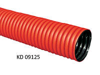 Двустенная (двухслойная двухстенная) жесткая труба 125 мм