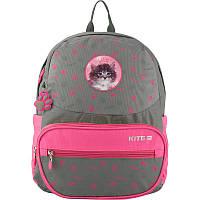 Рюкзак школьный Kite Education Rachael Hale 700 г 37х29х13 см 14 л Серо-розовый (R19-739S)