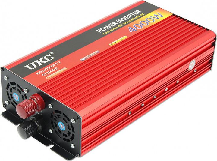 Преобразователь авто инвертор UKC 24V-220V AR 4000W c функции плавного пуска