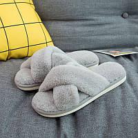 Тапочки домашние мужские Hommy 41 42 Серые QF8808lightgrey, КОД: 1375452