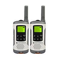 Рация Motorola TLKR T50 0.5W PMR446 446 MHz 2 шт Бело-серая 23-1005, КОД: 1493729