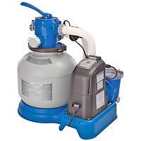Система соленой воды + Фильтр-насос грубой очистки Intex 28678 Серый int28678, КОД: 109712