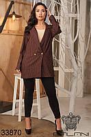 Стильный деловой пиджак в клетку с 48 по 58 размер