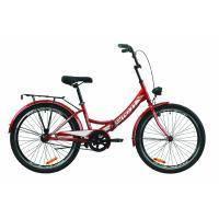 """Велосипед Formula 24"""" SMART Vbr рама-15"""" St 2020 красный, багажник+фонарь (OPS-FR-24-235)"""