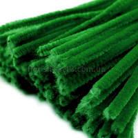 Синель пушистая 30 см зеленая