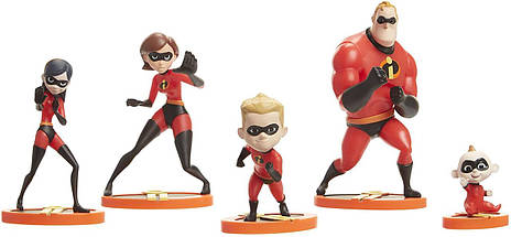 The Incredibles 2, 5-Раск Family Figure Set, фото 3