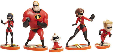 The Incredibles 2, 5-Раск Family Figure Set, фото 2