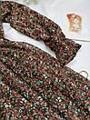 Платье женское с цветочным принтом миди, фото 2