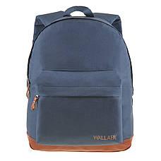 Рюкзак городской Wallaby 29 х 35 х 15 синий полиестр на ПВХ основев 1351син кор, фото 2