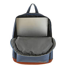 Рюкзак городской Wallaby 29 х 35 х 15 синий полиестр на ПВХ основев 1351син кор, фото 3