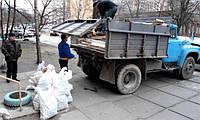 Вывоз строительного мусора Бровары. Вывоз мусора в Броварах газель, зил, камаз. Грузчики.