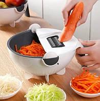 Овощерезка BASKET VEGETABLE CUTTER   Ручная вращающаяся овощерезка   Мультислайсер для овощей