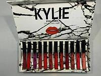 Помада KYLIE white в мраморной коробке 12 штук | Набор жидких матовых помад Кайли