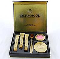 Тональный крем Dermacol набор 6in1 | Подарочный набор декоративной косметики