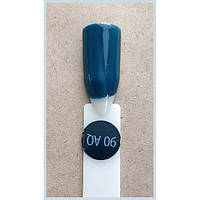 Гель-лак Kodi Professional 90AQ, Сине-бирюзовый, эмаль, фото 1