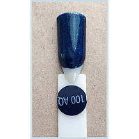 Гель-лак Kodi Professional 100AQ, Темно-синий с зеленым шиммером, крем, фото 1