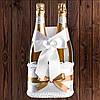 Корзинка для бутылок шампанского на 2 бутылки, золотистый цвет (арт. BFB-27)