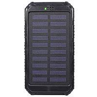 Внешний аккумулятор Solar 4000 mAh с солнечной батареей Черный 2379-5654, КОД: 1529815