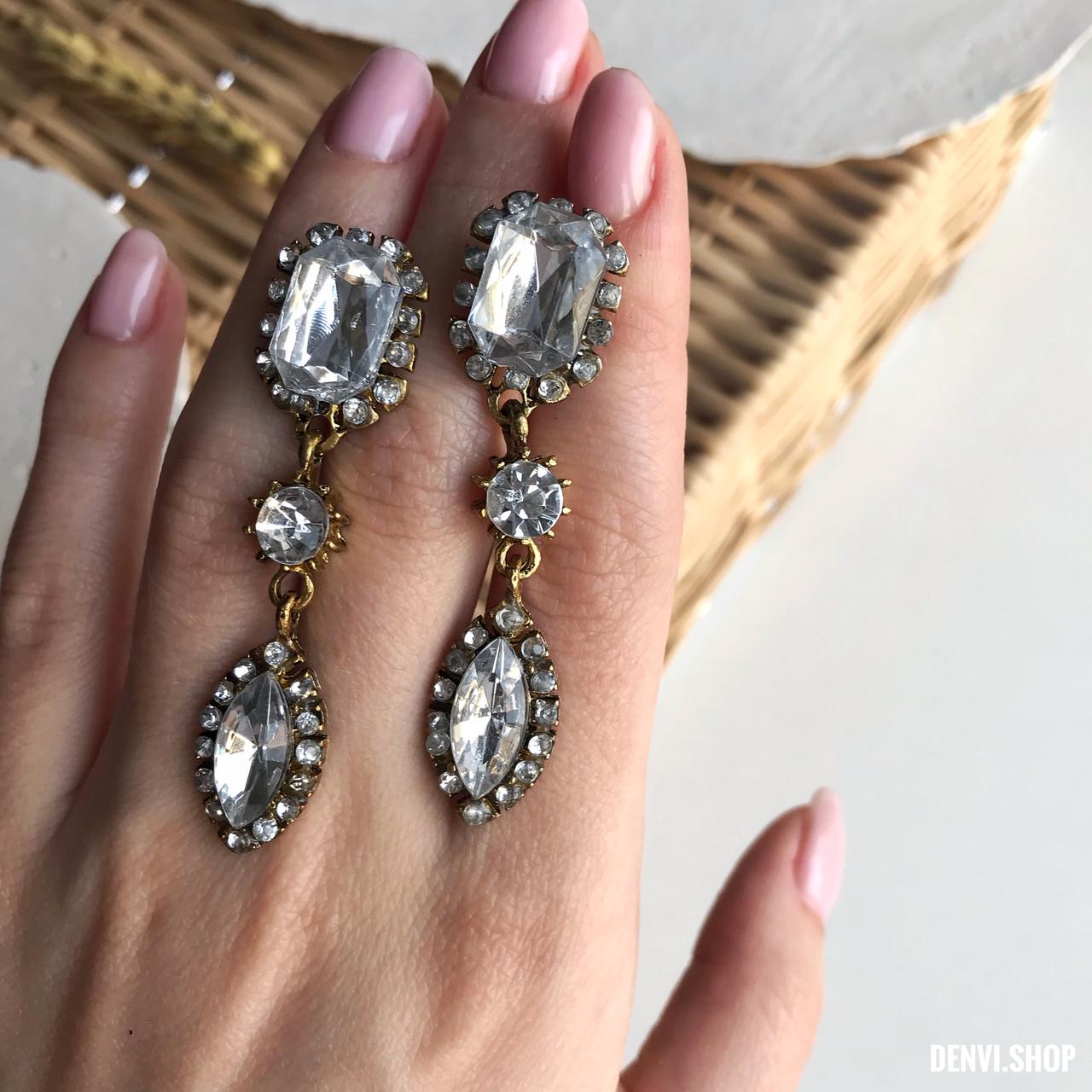 """Красиві сережки """"Амелі"""", у вінтажному стилі під черненное золото."""