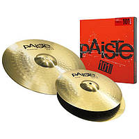 "Paiste 101 Brass Universal Set набор тарелок, 14"" Hi-Hat, 16"" Crash, 20"" Ride"