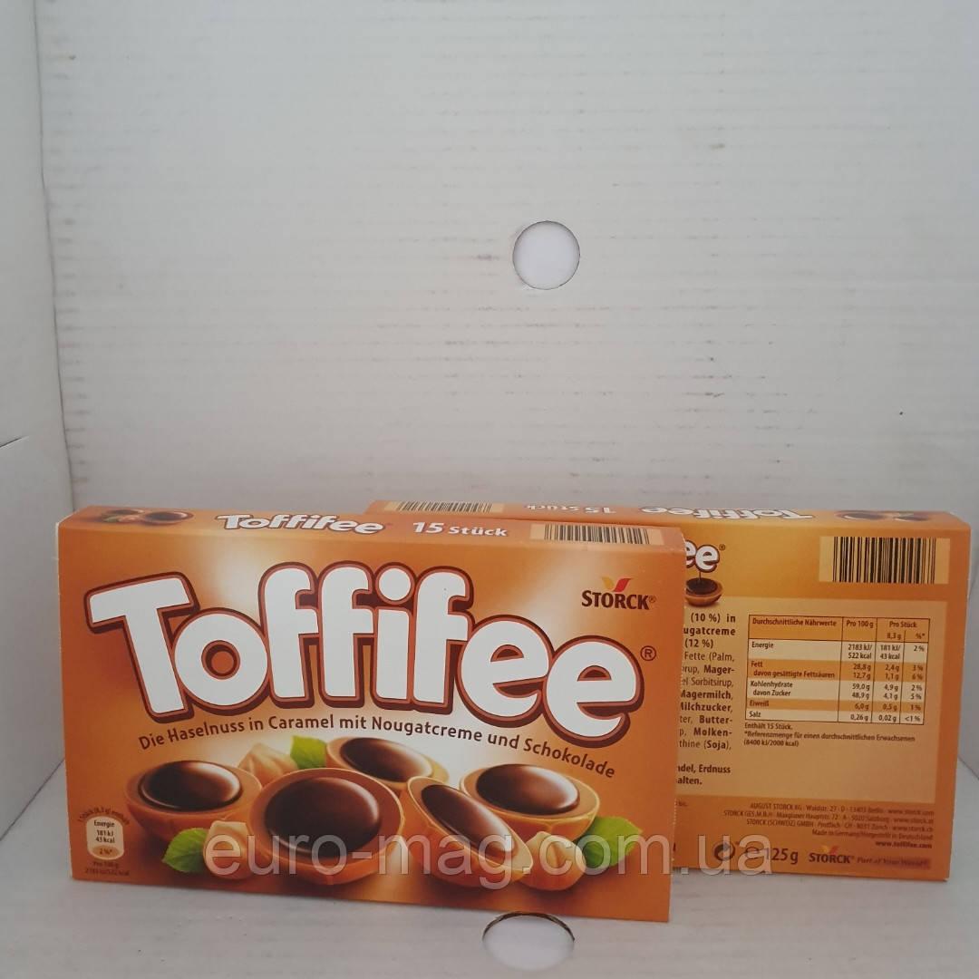 Шоколадные конфеты Toffifee с целым лесным орехом 125гр.