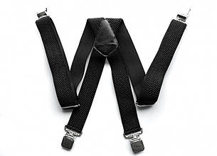 Мужские подтяжки Paolo Udini черные, фото 2