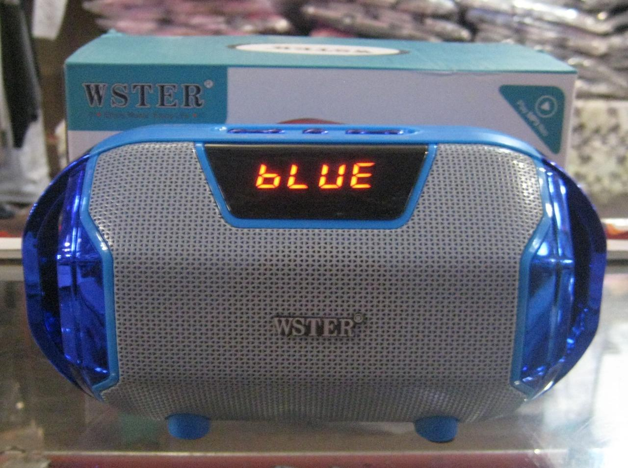 Портативная Bluetooth колонка WSTER WS-1833 (синяя)