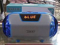Портативная Bluetooth колонка WSTER WS-1833 (синяя), фото 1
