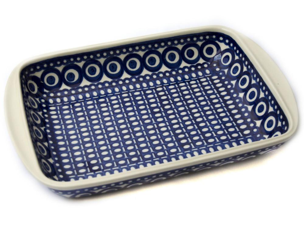 Керамическая форма для выпечки и запекания прямоугольная малая 29,5 х 20,5 с ушками Marine Bubbles
