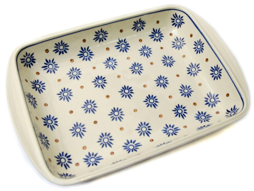 Керамическая форма для выпечки и запекания прямоугольная малая 29,5 х 20,5 с ушками Floret