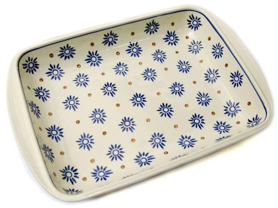 Керамическая форма для выпечки и запекания прямоугольная малая 29,5 х 20,5 с ушками Floret, фото 2