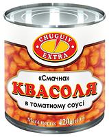 "ЧугПрод Квасоля в томатному соусі ""Смачна"" м/б 420г"