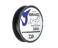 Шнур Daiwa J-Braid x4 Dark Green 270м 0.29мм