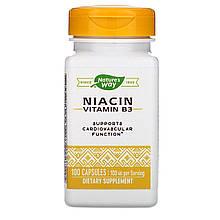 """Ніацин (вітамін В3) nature's Way """"Niacin"""" нікотинова кислота, 100 мг (100 капсул)"""