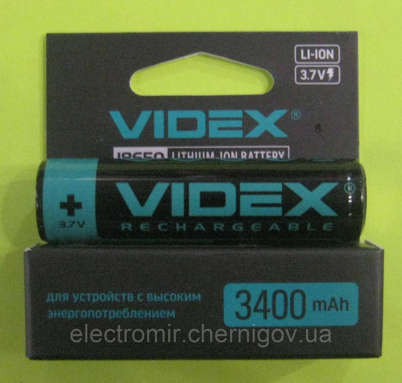 Аккумулятор Videx 18650 3400 mAh (с защитой)