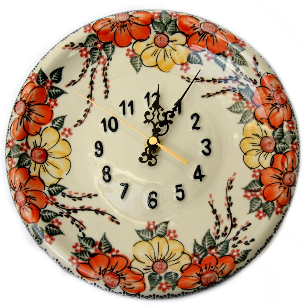 Часы настенные круглые керамические 24 Мальвы